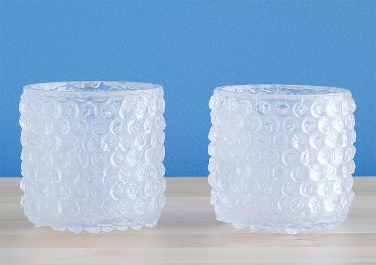 Luftpolsterfolien-Gläser