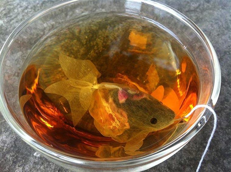 Goldfisch-Teebeutel