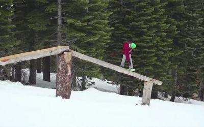 snow-skating