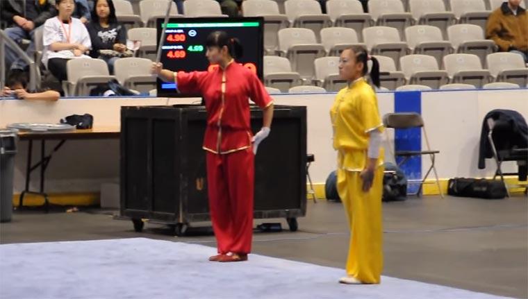 Unglaubliche Kampf-Choreografie wushu