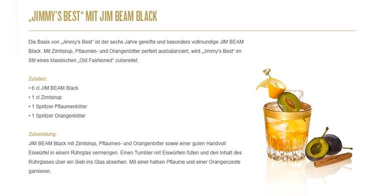 Jim Beam lud in die Barschule München Jim-Beam-Black