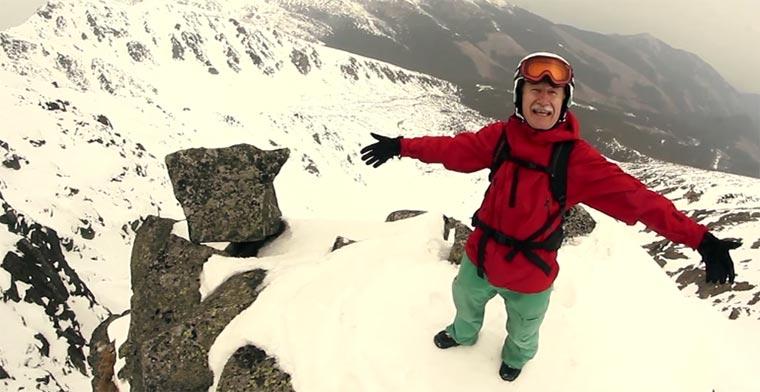 Der Snowboard-Rentner