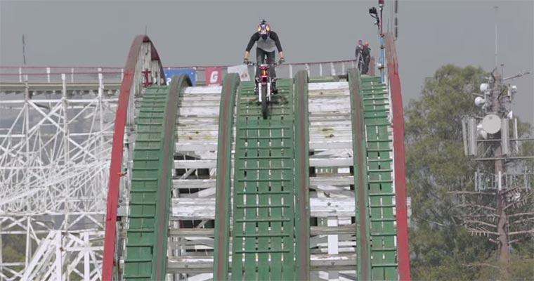 Achterbahn mit dem Motorrad Roller-coaster_Trial