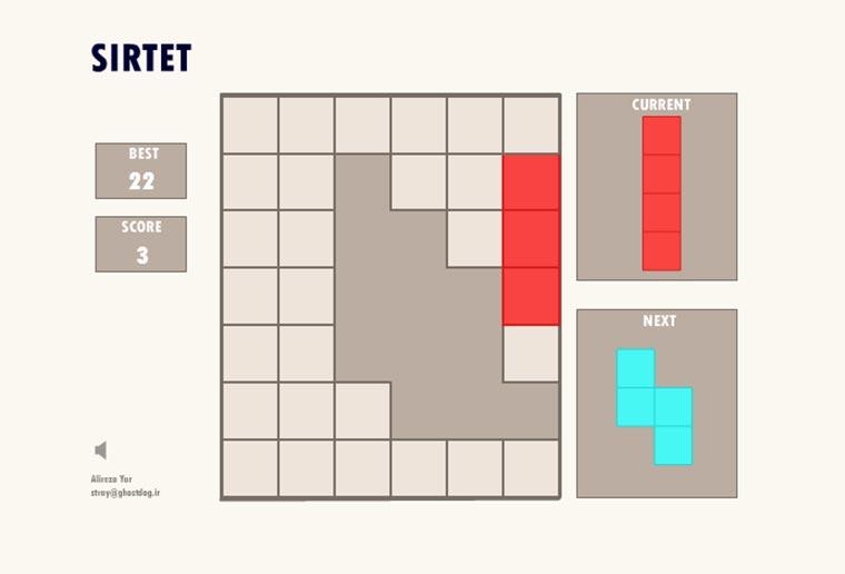 Tetris-Puzzle-Spiel SIRTET SIRTET