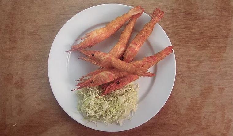 Gebratene Garnelen in 3 Sekunden action_tempura