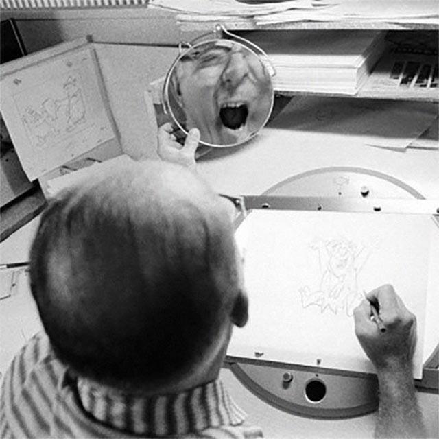 Disney-Zeichner checken Mimik im Spiegel disney_mirror_09