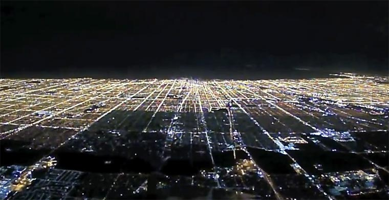 Nachtlandung in Chicago night-landing_chicago