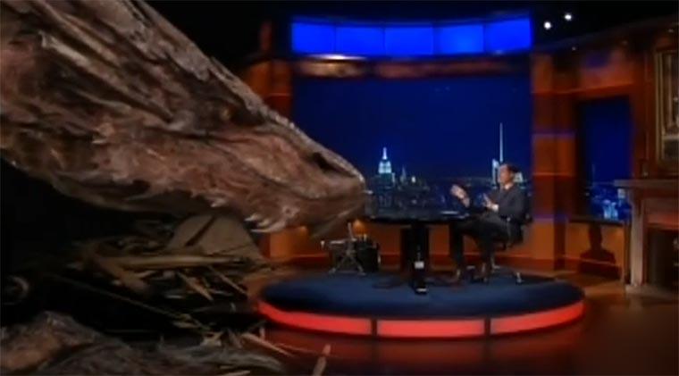 Colbert interviewt Smaug