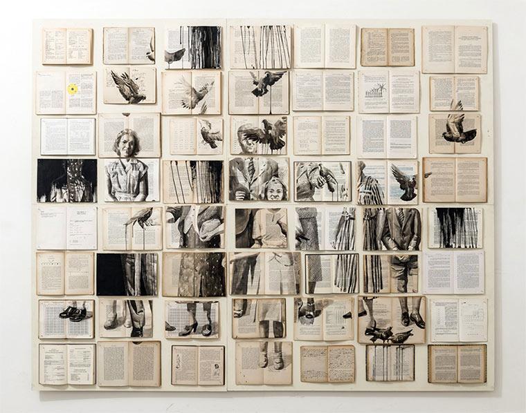 Tintenzeichnungen auf Büchern Ekaterina-Panikanova_01