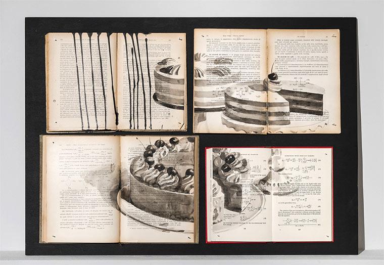 Tintenzeichnungen auf Büchern Ekaterina-Panikanova_02