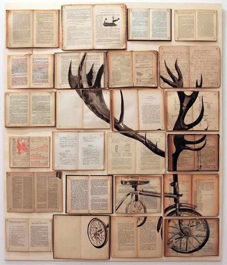 Tintenzeichnungen auf Büchern Ekaterina-Panikanova_09