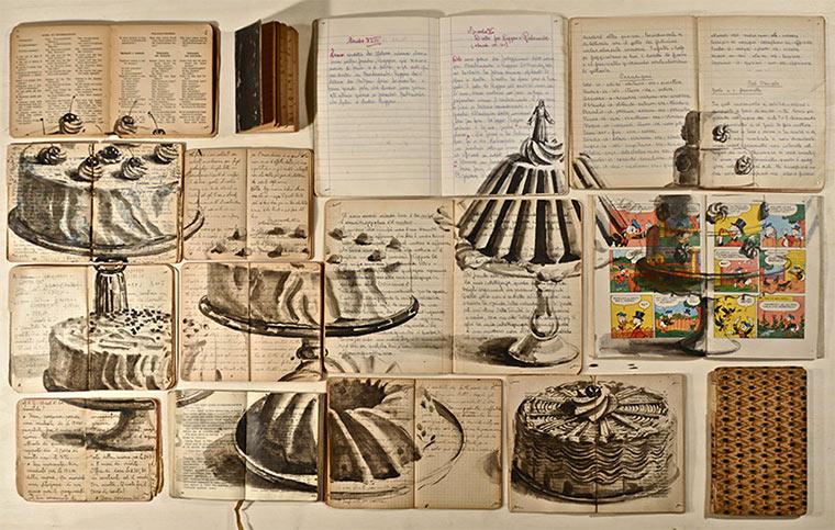 Tintenzeichnungen auf Büchern Ekaterina-Panikanova_10