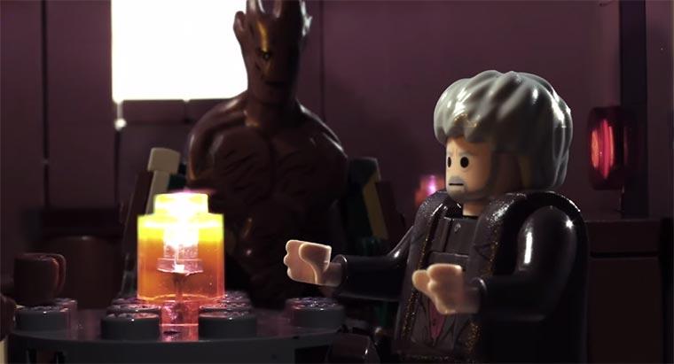 Groot, Hodor und Chewbacca reden miteinander Groot-Hodor-Chewbacca