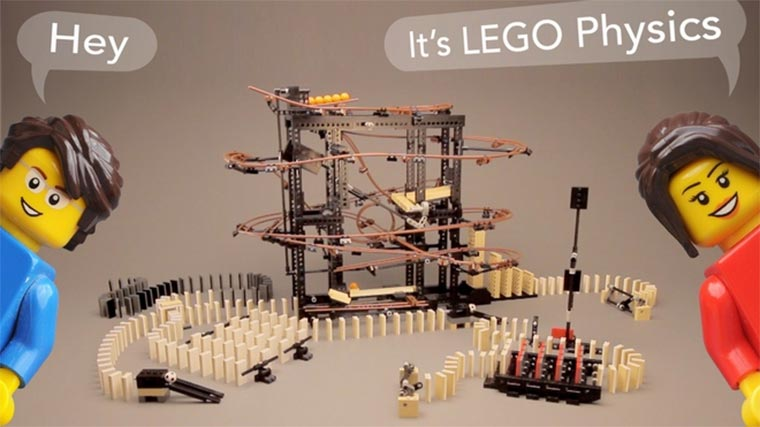 LEGO Physics Domino LEGO-Physics