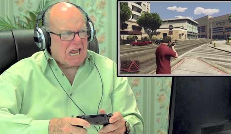 Rentner spielen das 1. Mal GTA V Rentner-GTA