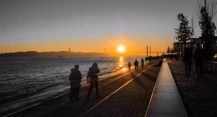 Timelapse: Lissabon Winter-Nightfall-Lisbon