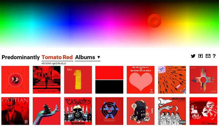 Musik nach vorherrschender Cover-Farbe predominantly