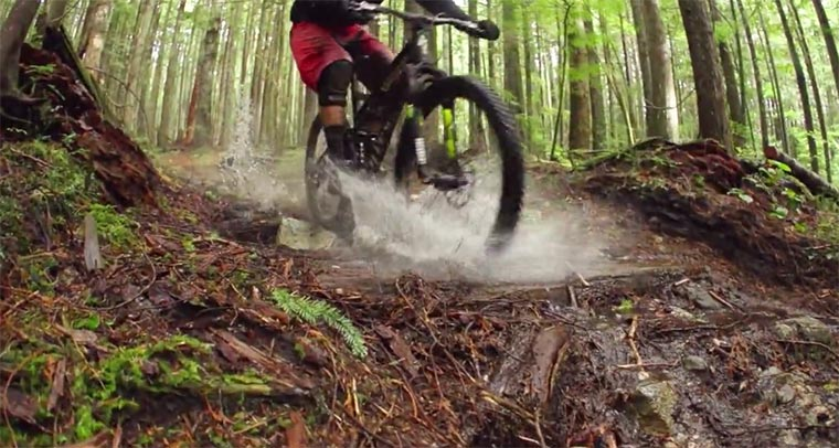 Mountainbike: Wetness