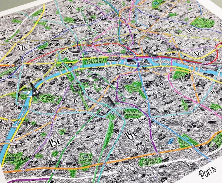 Handgemalte Stadt-Karten Jenni-Sparks_06