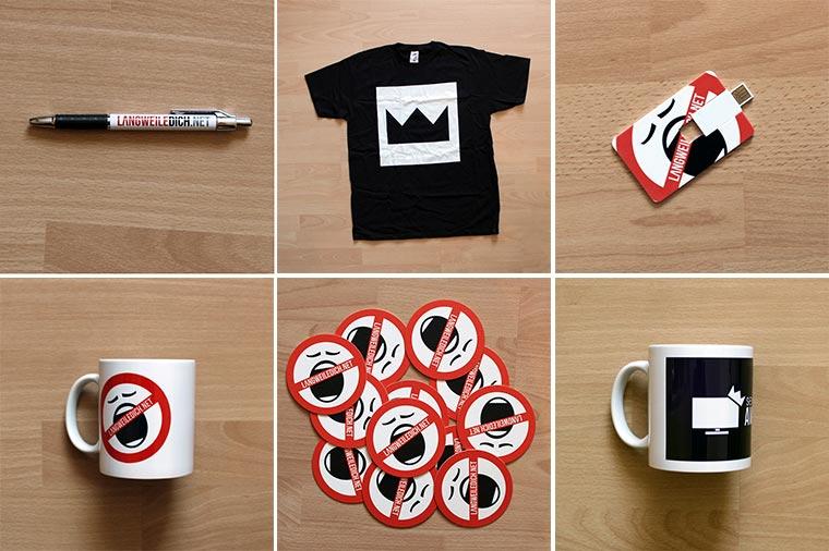 Neue Merchandise-Seite