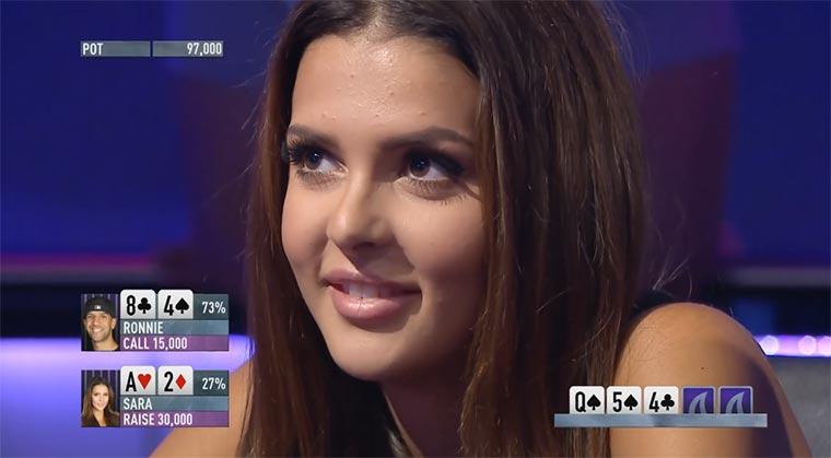 Badass Poker-Bluff von Miss Finnland Miss-Finnland-bluff