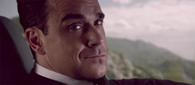 Robbie Williams als Bond-Verschnitt