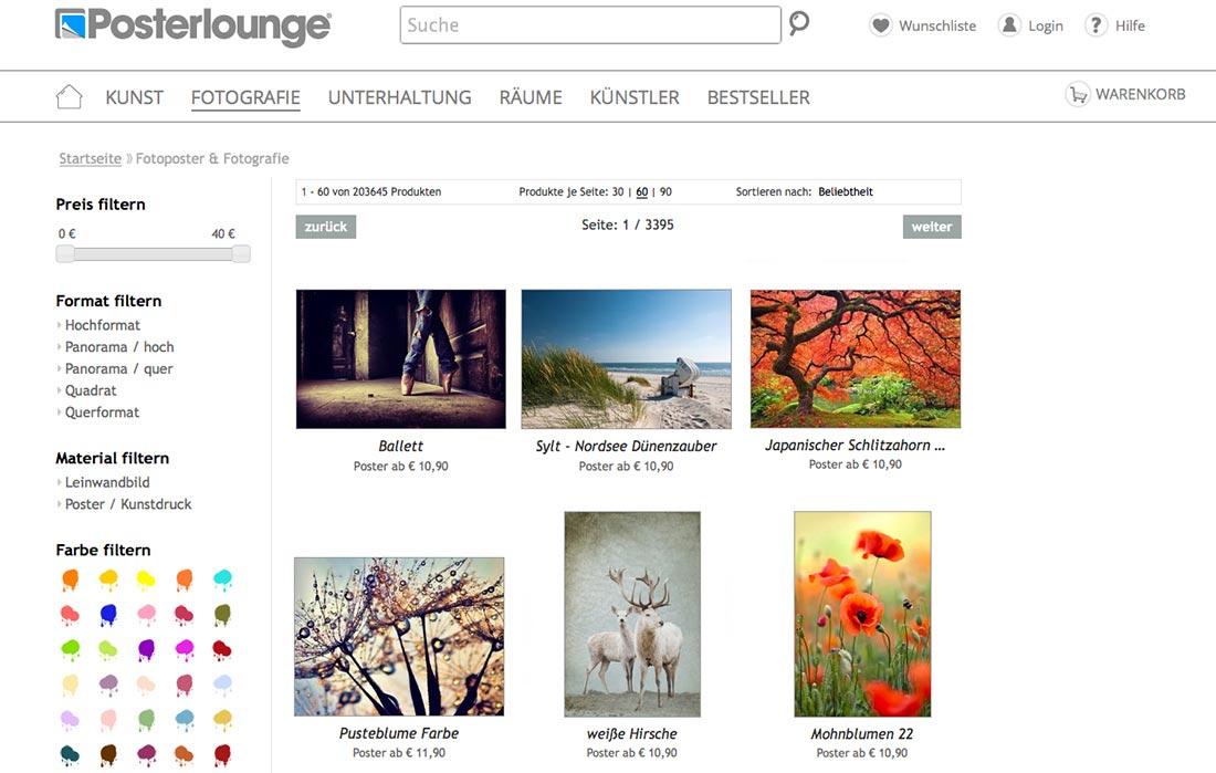 Posterlounge - mehr als nur Poster Screenshot-PL-neu