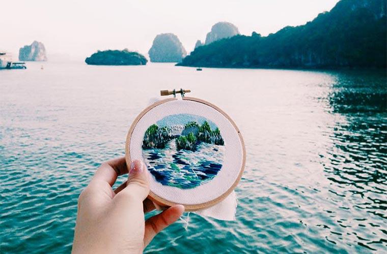 Gestickte Urlaubserinnerungen