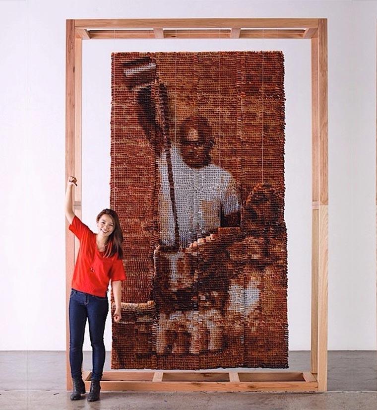 Portrait aus 20.000 Teebeuteln Teh-Tarik-Man_08