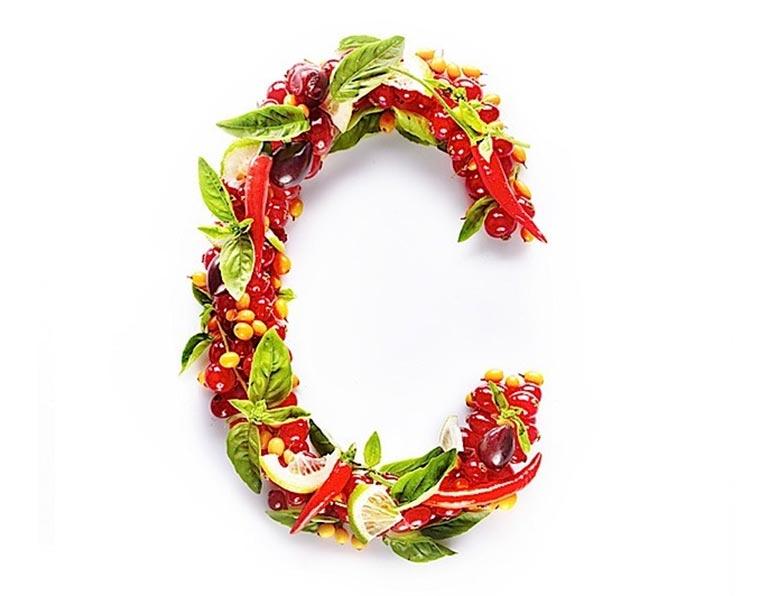 Food Typografie: Vitamine Vitamin-Typography_01