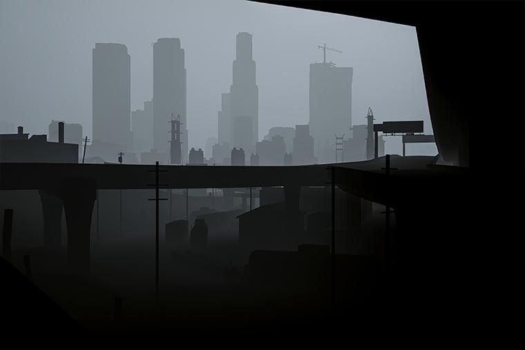 Surreal: GTA V ohne Texturen los_santos_obj_05