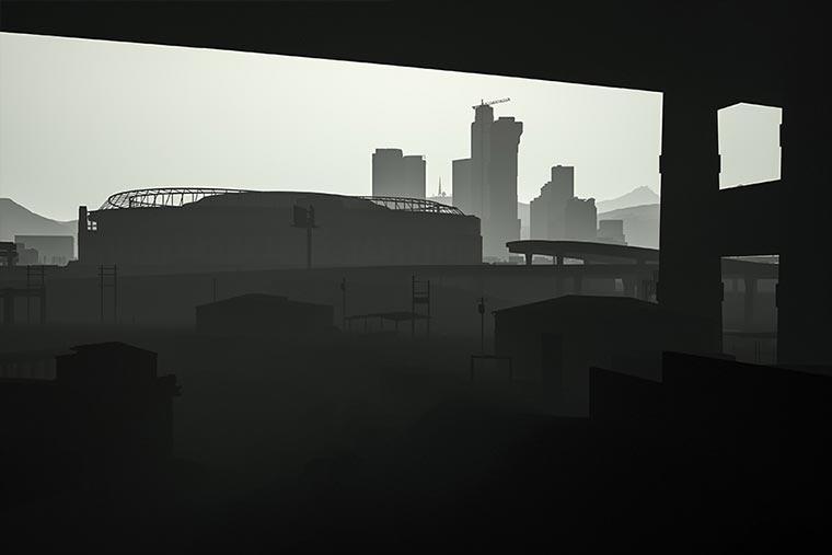 Surreal: GTA V ohne Texturen los_santos_obj_06