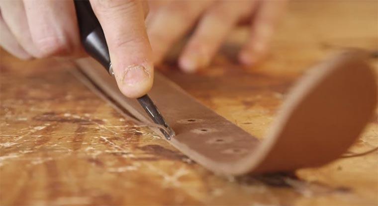 Ledergürtel, handgefertigt making-a-belt