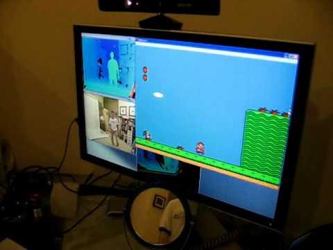 Super Mario mit Kinect spielen