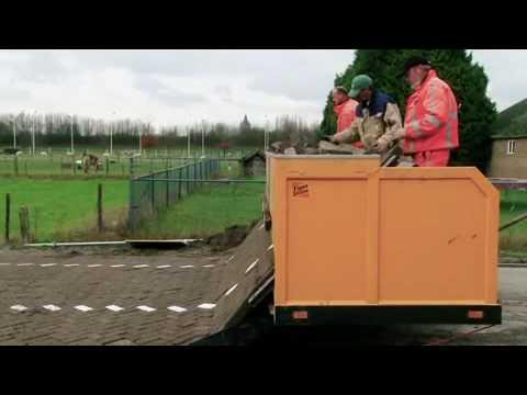 Pflastersteinmusterverlegemaschine