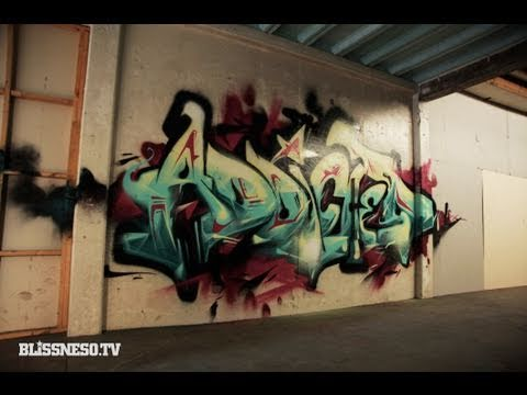 Feine Graffiti-Stopmotion