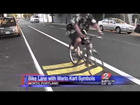 Mario Kart Fahrradstreifen