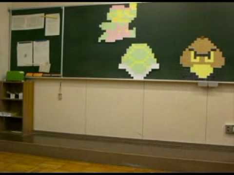 Super Mario Post-It-Stopmotion