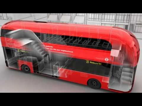 Neue Londoner Doppeldeckerbusse