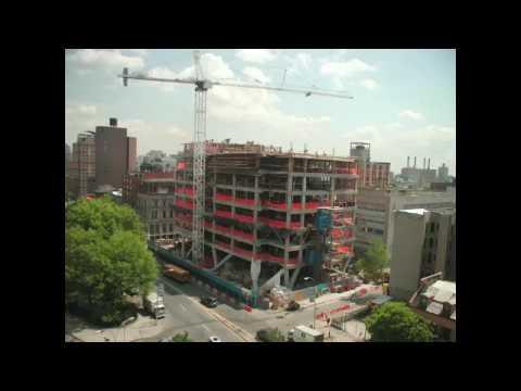 Timelapse eines Gebäudebaus