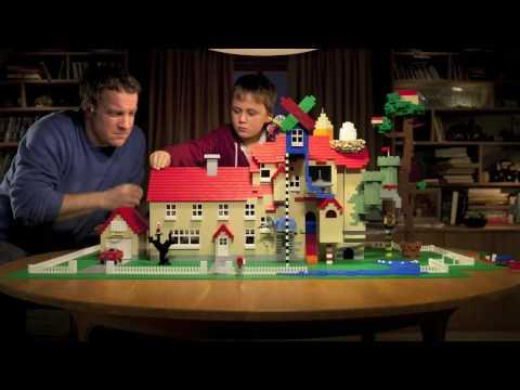 LEGO Stopmotion Hausbauwerbung