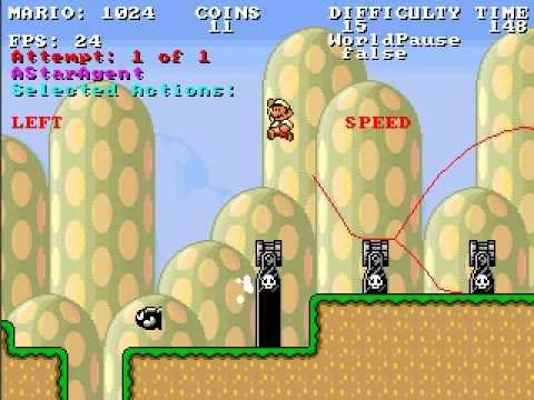 Lernender Algorithmus spielt Super Mario