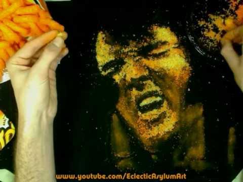 Elvis Speed-Painting aus Käse!