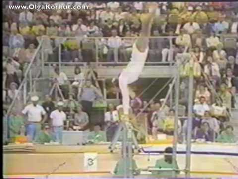 Olympia '72: Olga Korbut am Stufenbarren – wow!