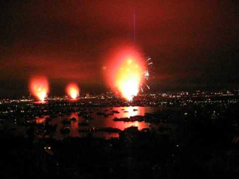 Feuerwerk fackelt in wenigen Sekunden ab