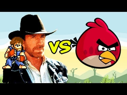 Chuck Norris play Angry Birds