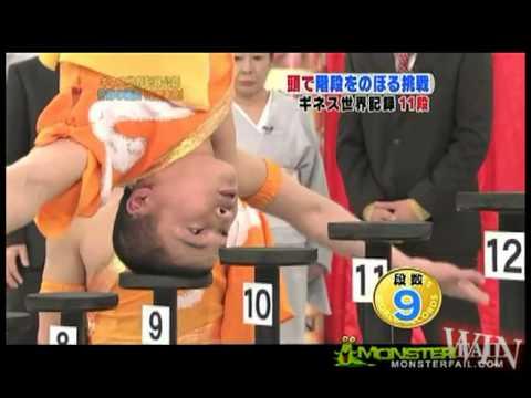 """Weltrekord im """"Mit dem Kopf die Treppe hochgehen"""""""
