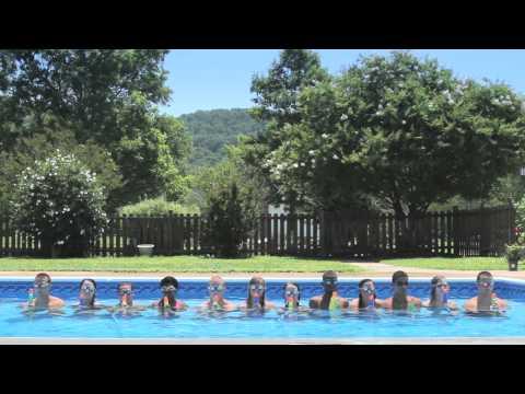 Wasserpistolen-Fontänen-Choreografie