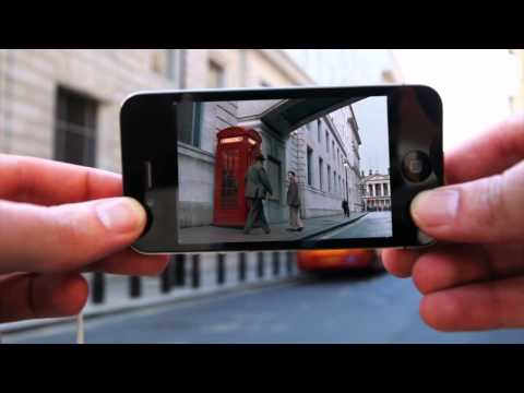 Augmented Reality: Handy spielt Film ab, der in der Location gespielt hat, in der du dich gerade befindest