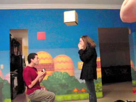 Heiratsantrag im Super Mario-Stil